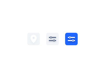 Color interactions ui interaction location map filter shadows icons color