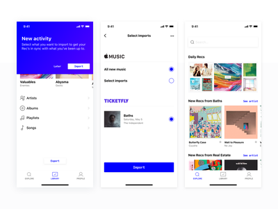 Music discover design challenge ios ui grid gradients layout recommendations music