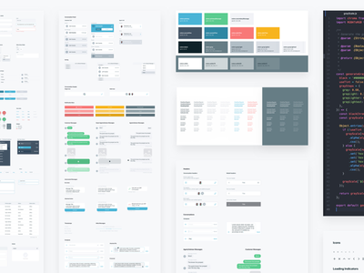 PDS — Design System cover library cards color palette style guide web mobile layout component ui design system
