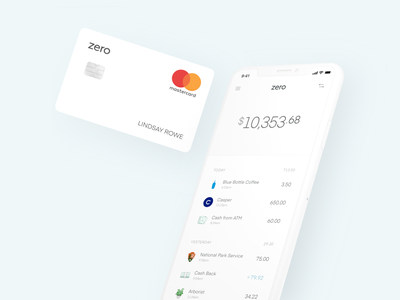 Zero ui shadows product mobile minimal layout iphone ios interface clean cards app