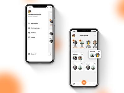 Holidaily 🌴   User profile   UX/UI Design   Light & dark mode drawer light dark light mode dark mode mobile ux mobile ui dashboard user profile mobile ui ux design