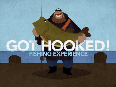 Got Hooked! concept broadcast cartoon fishing pitch illustration