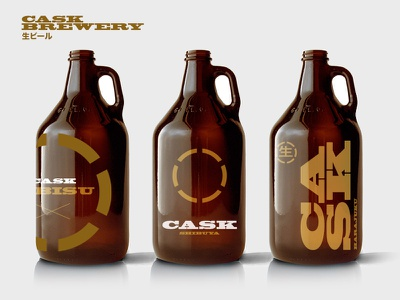 Cask Brewery package design branding growler concept graphic design beer