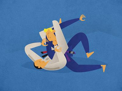 Contemporary Brazilian Jiu Jitsu Illust 2 martial arts illustration bjj