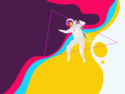 Triangulate illustration search explorer colorful spectral astronaut ipadpro procreate
