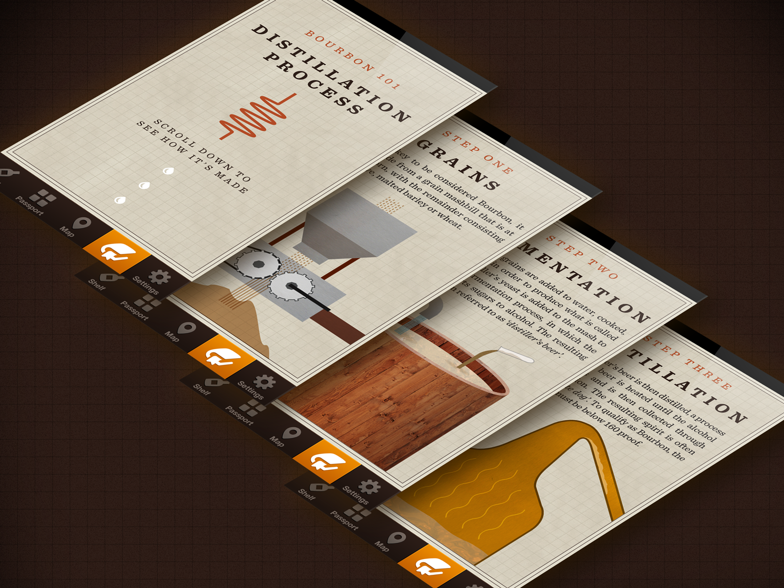 Robby davis projects kentucky bourbon trail app dribbble for Ky bourbon trail craft tour map