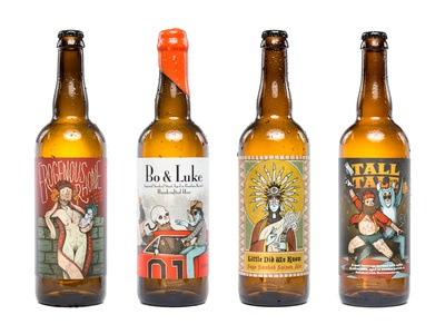 Against the Grain Bottles robby davis louisville kentucky beer label photography bottles illustration against the grain brewery craft beer photoshoot