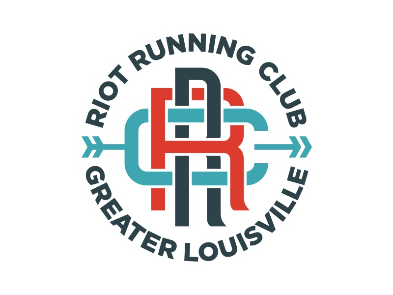 Riot Running Club Logo logo running running club club monogram louisville arrow run robby davis seal
