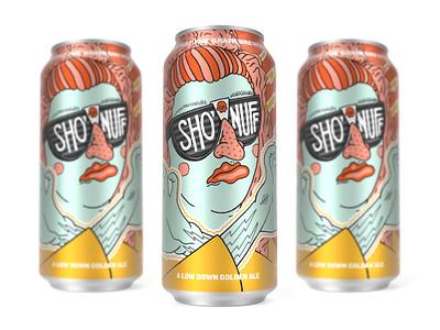 Sho' Nuff Can - Against the Grain Brewery 3d kentucky brewery beer packaging beer beer label beer can packaging branding illustration louisville robby davis
