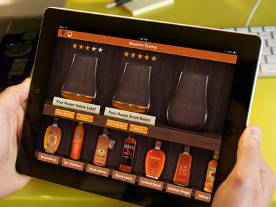 iPad Bourbon Tasting App ipad ios ui ux mobile texture bourbon app mocura robby davis
