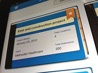 Project management iPad app