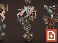 Unicycle Wallpaper Freebie 2