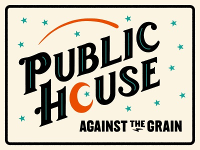 Public House Sign sign robby davis kentucky louisville taphouse brewery handlettering signage branding logo design logo