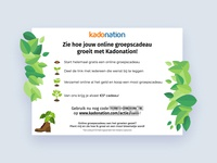 Botanical flyer design
