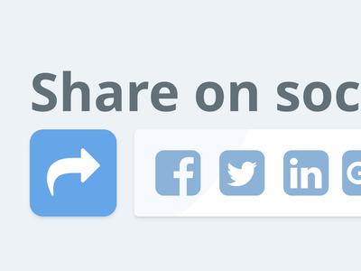 Share Buttons Closeup - Daily UI #010