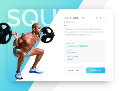 Dribbble 008 - Fitness Card