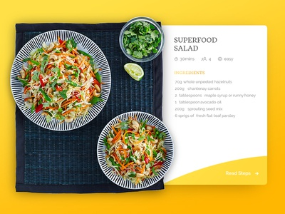 Dribbble 009 - Recipe Card
