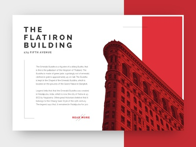 Dribbble 014 - Location Card pop out building flatrion big york location new about apple widget flat