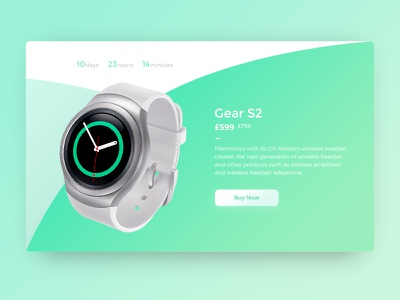 Dribbble 017 - Special Offer gradient smart watch smartwatch special advertise offer counter ad banner