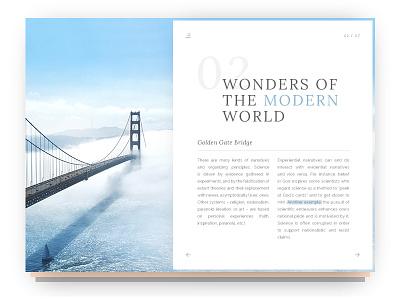 Dribbble 018 - Blog Post pop out bridge read layout print type post blog material