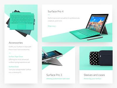 Surface Pro UI Elements colour gradient minimal technology surface pro elements ui