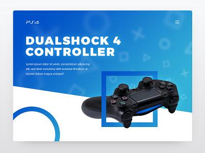 Playstation 4 Dualshock Controller clean flat colour gradient controller dualsock 4 playstation