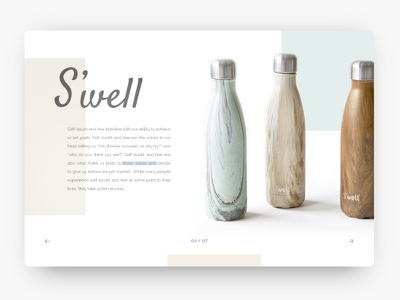 S'well page. pagination drink. swell bottle clean drinks bottles