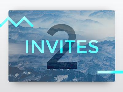 x2 Dribbble Invites colour photography clean dribbble invites invites dribbble