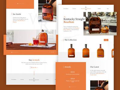 Woodford Reserve clean ui whiskey alcohol desktop concept creative website web minimal clean flat ui