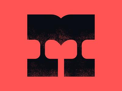 36 Days Of Type - M typography design typography art type design typeface sign logo lettermark oblik studio book adobe illustrator adobe photoshop brush typogaphy artwork art letter m letter 36 days of type 36daysoftype07 36daysoftype