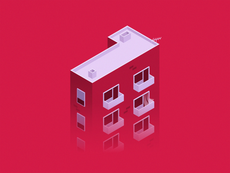 36 Days Of Type - 1 number 1 number apartments isometric art isometric isometry isometric illustration type design typogaphy home building illustration art illustration adobe illustrator graphic design one 1 36 days of type 36daysoftype07 36daysoftype