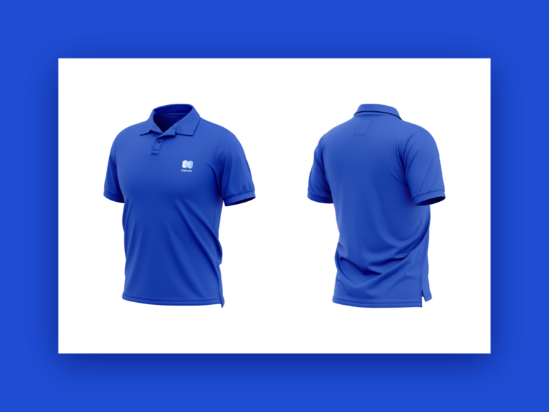 Nexo Polo Shirt crypto wallet cryptocurrency crypto fintech blue merch design merchandise branding and identity brand identity brand design branding oblik oblik studio mockup t-shirt shirt polo shirt nexo logo design
