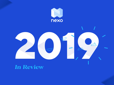 Nexo Year in Review - Cover grahic design figma adobe aftereffects motion graphic motion design animation video year in review review 2019 logo app fintech crypto exchange crypto currency crypto wallet crypto oblik studio oblik nexo