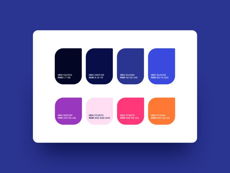 GhostMask Color Palette brand identity user inteface color palette palette colors color ghost precise extension chrome extension chrome illustrator ui shapes vector design oblik studio branding flat graphic design