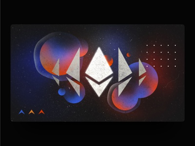 Dispatch - Ethereum futuristic abstract eth adobe stars design planets illustrator vector cosmic finance nexo fintech banking crypto wallet cryptocurrency crypto ethereum graphic design illustration