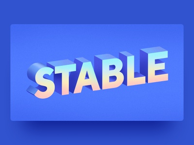 Stable 3d letters font blue cryptocurrencies banking app banking nexo vector digital assets digital art finance fintech cryptocurrency crypto wallet crypto illustration graphic design typography stable