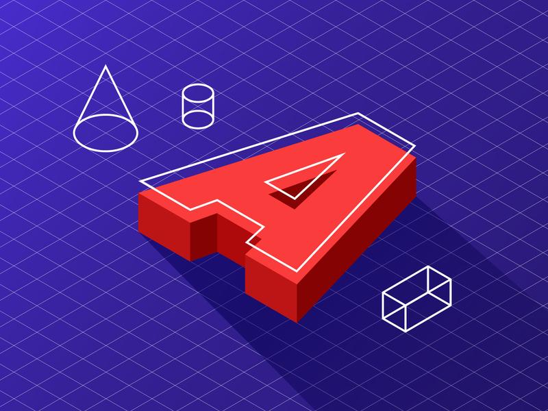 Geometry design line art shapes cylinder cone letter isometric art isometric illustration geometric illustration geometric art geometric