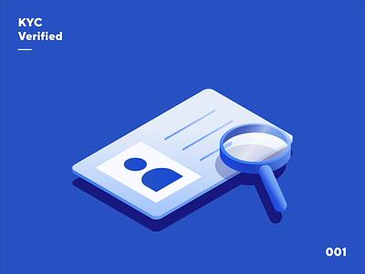 Nexo Illustration - KYC Verified flat check shield magnifier user app animation motion verify verification aml kyc blockchain fintech banking crypto isometry isometric illustration nexo