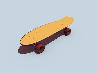 Penny Board Freebie 3d modeling skate board skateboard pennyboard cinema4d freebie