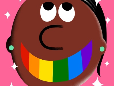 Rainbow Teeth lgbtqia design flat illustrator illustration colorful fun joy happy rainbow gay lgbtq lgbt pride