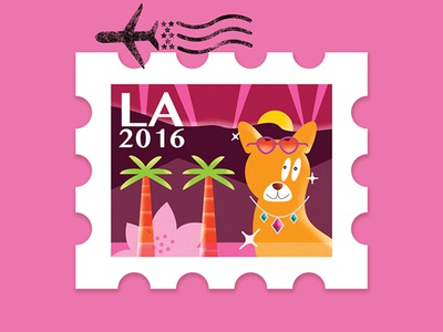 LA Travel Stamp