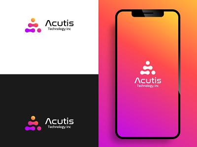 Mobile App Logo Design ux branding ui graphic design design logo techno iphone apple web technology tech application app mobile