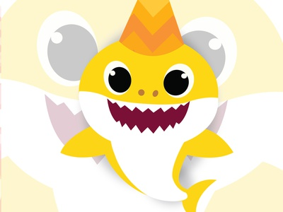Baby Shark illustration animation vector graphic design