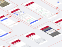 User flow of registration for App UI UX