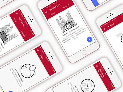 iOS screens of Empty states UI ukraine white iphone ios app sketch clean icon design material empty ui