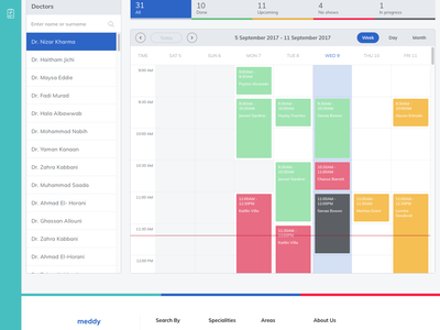 Dashboard. Calendar view by the week ukraine white blue calendar web clean ux ui sketch dashboard