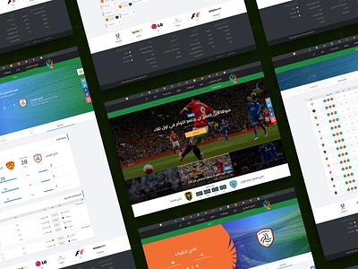 Saudi League Football Blog Dashboard Overview gui ukraine website web ux dashboard football ui design clean arabic