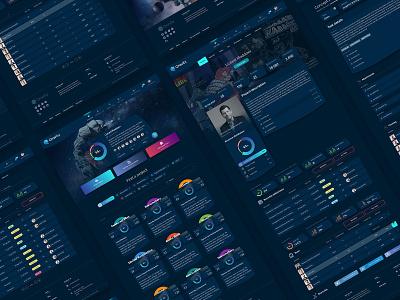 Cryptocurrency ICO token project dashboard chart graph dashboard muzli dark flat sketch web clean app ux ui design ukraine