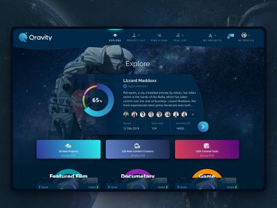 Cryptocurrency Explore Page ukraine design ui ux app clean web sketch flat dark muzli dashboad graphic graph chart
