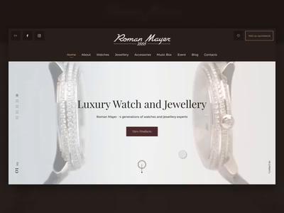 Luxury Watches Landing animation landing flinto watches luxury jewelery website sketch web animation ux design ui ukraine